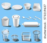 plastic dishware or disposable...