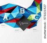 3d polygonal object triangles ...   Shutterstock .eps vector #573221527