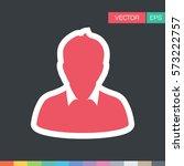 user icon   person profile... | Shutterstock .eps vector #573222757