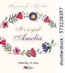template for invitation card... | Shutterstock .eps vector #573228397