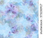 Stock photo flowers seamless background 573230917