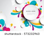 Vector of modern abstract background | Shutterstock vector #573232963
