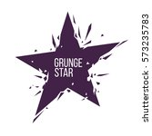 grunge crashed star logo | Shutterstock .eps vector #573235783