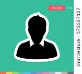 user icon   person profile... | Shutterstock .eps vector #573237127