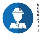 business man helmet contruction ... | Shutterstock .eps vector #573238387