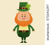 leprechaun standing with suit...   Shutterstock .eps vector #573241297