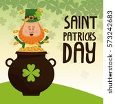 saint patricks day leprechaun... | Shutterstock .eps vector #573242683