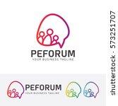 people forum  community ... | Shutterstock .eps vector #573251707