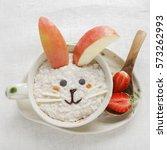 Easter Bunny Rabbit Porridge...