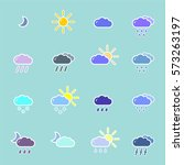 set with different weather icons | Shutterstock .eps vector #573263197
