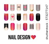 collection of vector nail...   Shutterstock .eps vector #573277147