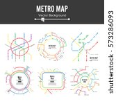 metro map vector set. city...