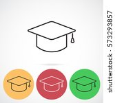line icon  graduation cap | Shutterstock .eps vector #573293857