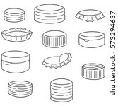 vector set of bottle cap | Shutterstock .eps vector #573294637