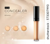 cosmetic product concealer... | Shutterstock .eps vector #573307993