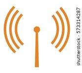 vector illustration of antenna... | Shutterstock .eps vector #573314287