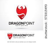 dragon point logo template... | Shutterstock .eps vector #573315493
