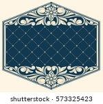 vintage ornate decorative design   Shutterstock .eps vector #573325423