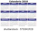 calendario 2018 | Shutterstock .eps vector #573341923