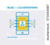 blue line illustration concept... | Shutterstock .eps vector #573343087