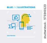 blue line illustration concept... | Shutterstock .eps vector #573343123