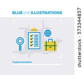 blue line illustration concept... | Shutterstock .eps vector #573344857