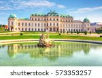 belvedere palace in vienna ... | Shutterstock . vector #573353257