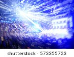crowd at a rock concert... | Shutterstock . vector #573355723
