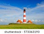 westerheversand lighthouse ...   Shutterstock . vector #573363193