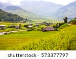 natural landscape with old... | Shutterstock . vector #573377797