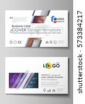 business card templates. easy... | Shutterstock .eps vector #573384217