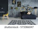 grey multifunctional room with... | Shutterstock . vector #573386047