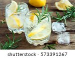 alcoholic drink  gin tonic... | Shutterstock . vector #573391267