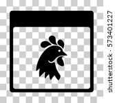 rooster head calendar page icon.... | Shutterstock .eps vector #573401227
