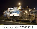 Small photo of DUBAI, UAE - DEC 4, 2016: Airstream caravan food truck Urban Seafood at the Last Exit food trucks park on the E11 highway between Abu Dhabi and Dubai