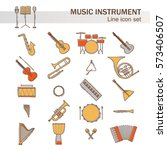 musical colorful instruments... | Shutterstock .eps vector #573406507