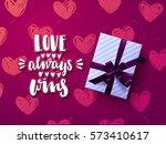 valentine s card design  hand... | Shutterstock .eps vector #573410617