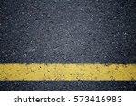 Asphalt Texture. Yellow Line O...