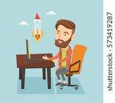 caucasian hipster businessman... | Shutterstock .eps vector #573419287