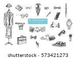 businessman stuff and... | Shutterstock .eps vector #573421273
