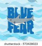cute shark little shark... | Shutterstock .eps vector #573428023