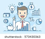 investor. smart investment.... | Shutterstock .eps vector #573430363