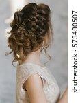 portrait of attractive young... | Shutterstock . vector #573430507