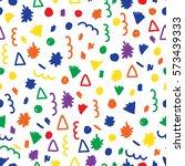 doodle seamless pattern... | Shutterstock . vector #573439333