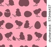 seamless easter pattern.... | Shutterstock .eps vector #573446437