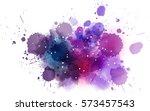 multicolored watercolor...