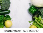 food background of fresh green... | Shutterstock . vector #573458047