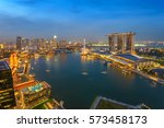 Singapore Aerial View City...