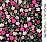 cute vintage seamless pattern... | Shutterstock .eps vector #573469993