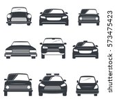 set of different car icons... | Shutterstock .eps vector #573475423